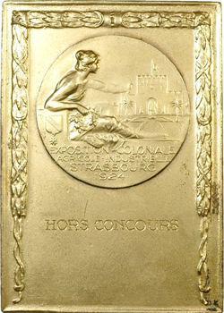 IIIe République, plaque de l'Exposition coloniale de Strasbourg, 1924