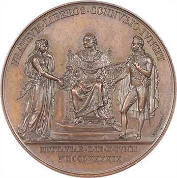 Louis XVIII, mariage de Louis de France, duc d'Angoulême et de Marie-Thérèse en 1799, c.1819 Paris