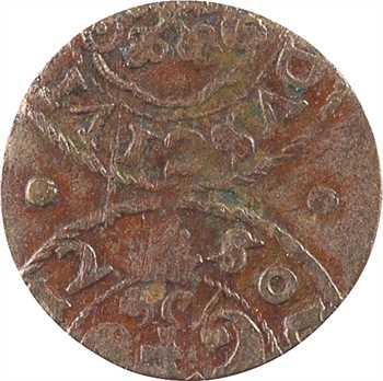 Pologne (Livonie), Christine, solidus (shilling), s.d. Riga, variété flan mal découpé