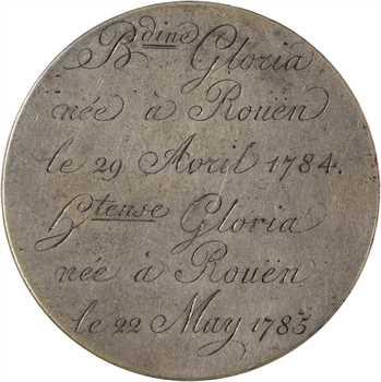 Louis XVI, médaille de mariage et de naissances en taille directe, 1754-1785