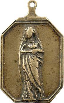 Bretagne, Congrégation de Rennes, fonte religieuse à la Vierge, s.d. (XVIIIe s. ?)