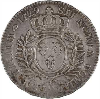 Louis XV, demi-écu aux rameaux d'olivier, 1729 Montpellier