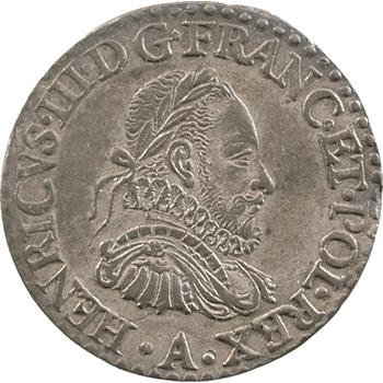 Henri III, sacre du Roi à Reims, jeton en argent, 1575 Paris