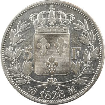 Charles X, 5 francs 2e type, 1828 Toulouse