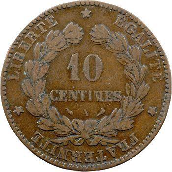 IIIe République, 10 centimes Cérès, 1896 Paris ( torche)