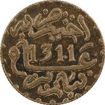 Maroc, Hassan Ier, 1/2 dirham, AH 1311 (1893) Paris