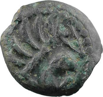 Sénons, bronze à l'aigle et au profil géométrique, Ier s. av. J.-C.