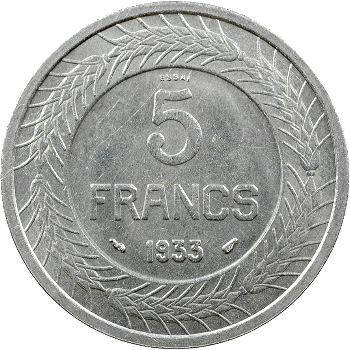 IIIe République, essai de 5 francs par Cochet, 1933 Paris
