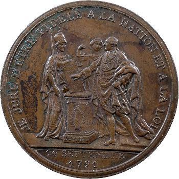 Constitution, Monneron au serment du Roi, An III, 1791 Birmingham