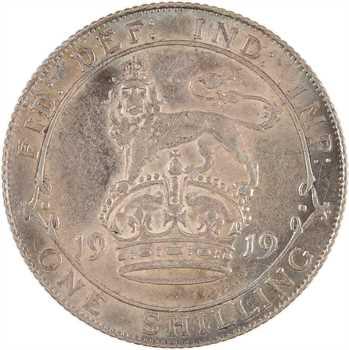 Royaume-Uni, Georges V, shilling, 1919 Londres