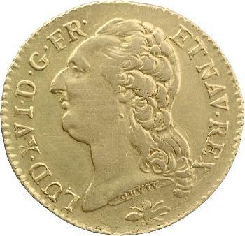 Louis XVI, louis d'or à la tête nue, 1785 Lyon