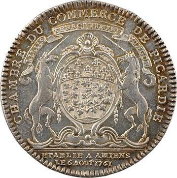 Louis XV, établissement de la Chambre de Commerce de Picardie à Amiens, 1761 Paris