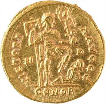 Arcadius, solidus, Milan, 394-395