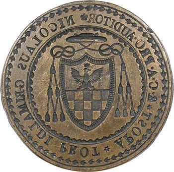 Monaco, sceau de Nicolas Grimaldi (Grimaldi-Cavalleroni de Gênes ?), protonotaire apostolique, s.d. (c.1600 ? fabrication du XIXe s. ?)