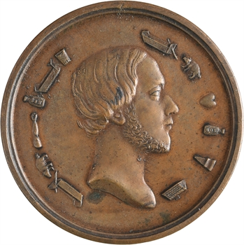 Henri V, médaille rébus -Tous les bras sont ouverts etc.-, 1848 Paris