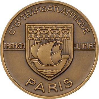 IVe République, Compagnie Générale Transatlantique (C.G.T.), le paquebot Paris, par J. Vernon, s.d. Paris