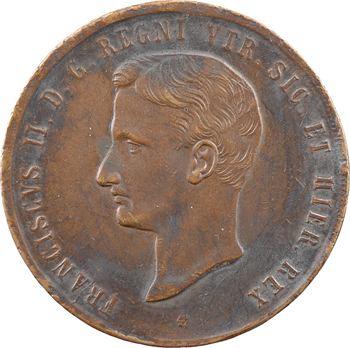 Italie, Deux-Siciles (royaume des), François II, 10 tornesi, 1859 Naples