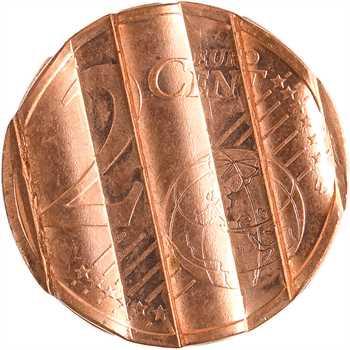 Euro, France, 2 centimes pilonnée, 2004 Pessac