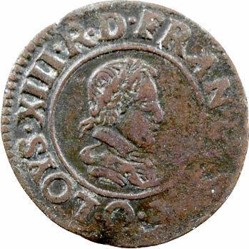Louis XIII, double tournois, 1624 Riom