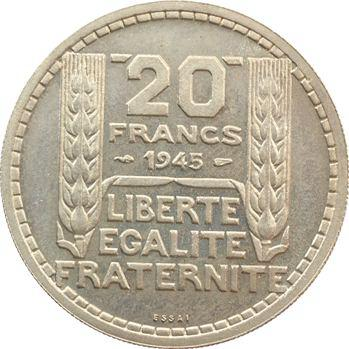 Gvt provisoire, essai de 20 francs par Turin, 1945 Paris