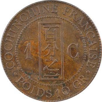 Cochinchine, 1 centième, CCCS EF40, 1879 Paris