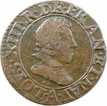 Louis XIII, double tournois, 1626 Paris
