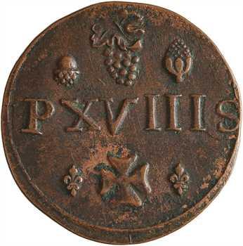 Picardie, Amiens, méreau de XVIII sols, 1710