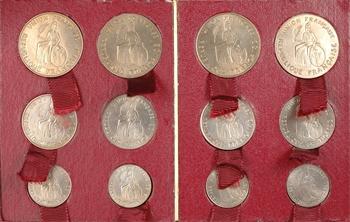 Nouvelle-Calédonie/Polynésie, série de 12 essais, 50 c., 1 et 2 francs, avec et sans listels, 1948 Paris