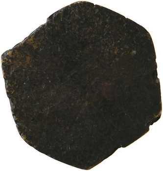 Moyen âge, poids monétaire héxagonal, 2 deniers, s.d