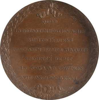 États-Unis, Comitia Americana, Colonel John Eager Howard et la bataille de Cowpens, frappe originale, 1781 (1789) Paris, PCGS SP64