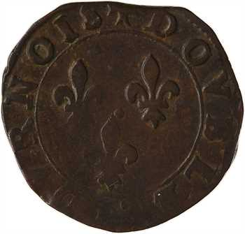 Henri III, double tournois, s.d. (1579-1581) Bourges