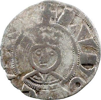 Louis VII et l'évêque Roger de Rosoi, denier, Laon
