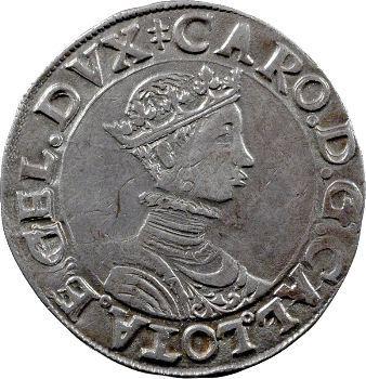 Lorraine (duché de), Charles III, teston au buste juvénile