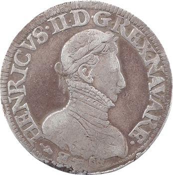Béarn (seigneurie de), Henri II, teston, 1573 Pau