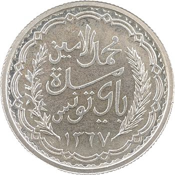 Tunisie (Protectorat français), Mohamed Lamine, 10 francs, 1947 Paris