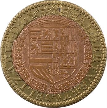 Pays-Bas méridionaux, Albert et Isabelle, jeton bimétallique, 1609