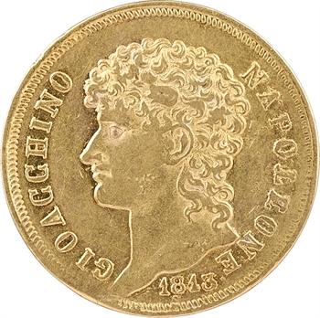Italie, Naples et Deux-Siciles (royaume de), Joachim Murat, 40 lire, 1813 Naples