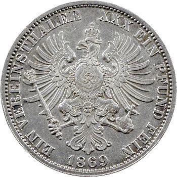 Allemagne, Prusse (royaume de), Guillaume Ier, thaler, 1868 Berlin