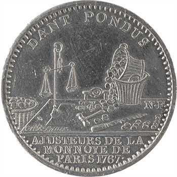 Louis XV, les ajusteurs de la Monnaie de Paris, 1767 (postérieur) Paris