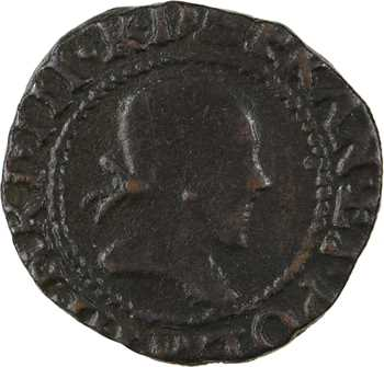Henri III, denier tournois, 1582 (avec 2 retourné) Rouen