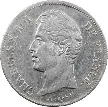 Charles X, 5 francs 2e type, 1827 Lille