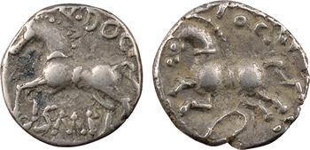 Séquanes, lot de deux deniers, TOGIRIX/TOGIRI et Q.DOCI/ SAM.F, c.57-50 av. J.-C.