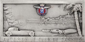 Automobile : Cannes, plaque de l'Automobile Club, s.d. Nice