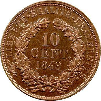 IIe République, essai de 10 centimes par Oudiné, 1848 Paris