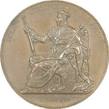 Charles X, médaille du sacre à Reims par Gayrard (Sb.94e), 1825 Paris