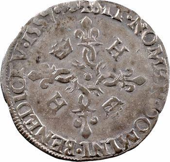 Henri II, douzain aux croissants, 1557 Poitiers