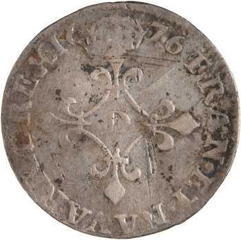Louis XIV, quadruple sol à la croix fleurdelisée, 1676 Lyon ou Vimy