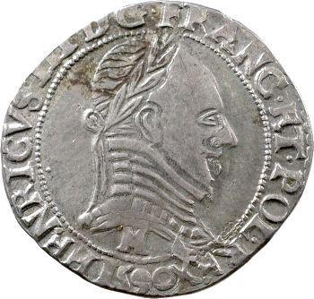 Henri III (sous la Ligue), demi-franc au col plat, 1590 Toulouse