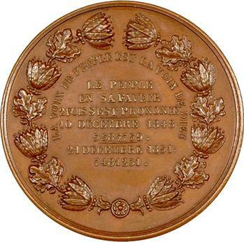 Second Empire, plébiscite en faveur du Président Louis Napoléon par Montagny, 1851 Paris