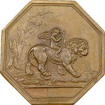 IIIe République ? Médaille ou grand jeton, un ange monté sur un lion, s.d